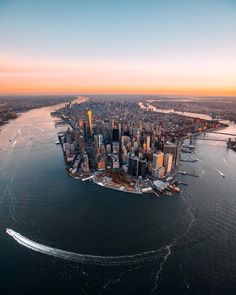 Manhattan from above by - New York City Feelings City Photography, Aerial Photography, Germany Photography, Landscape Photography, Places To Travel, Places To See, Places Around The World, Around The Worlds, Photographie New York