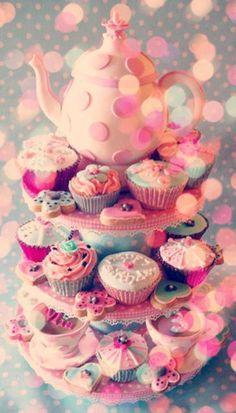 Tea party cupcakes.