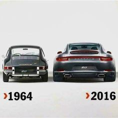 Wow, what a difference in these 2 Porsche 911's!