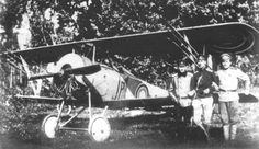 Russian Nieuport XXI armed with the rockets.