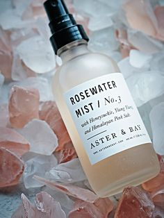 Rosewater Mist | This Rosewater Mist is made from a beautiful scent derived from a combination of Bulgarian Rosewater and Ylang Ylang floral water. This therapeutic aroma is hydrating for the face, hair and body. Also contains anti-viral and anti-bacterial honeysuckle and hydrating Himalayan pink salt.