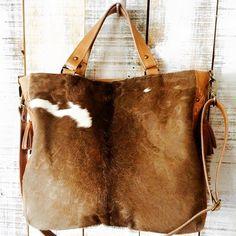 Cow hide purse, leather bag, brown cowhide bag, crossbody cowhide, hereford cow hide purse