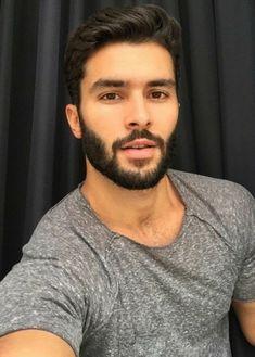 His hair, eyebrows, moustache and beard. Hot Men, Sexy Men, Hot Guys, Face Men, Male Face, Hair And Beard Styles, Hair Styles, Short Beard, Moustaches