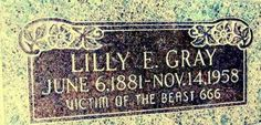 Top 10 Creepiest Graves - The one pictured is in Salt Lake Cemetary in Utah!