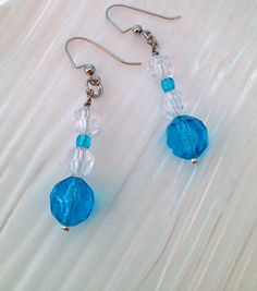 Faceted Turquoise Earrings, $14.00 on mjcali1048@hotmail.com