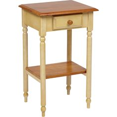 OSP Country Cottage Telephone Table, Buttermilk & Cherry Finish