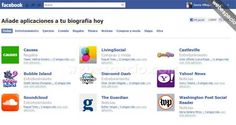 80 aplicaciones oficiales para tu Biografía (Timeline) de Facebook