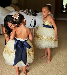 Unique Sequins Flower Girl Dress