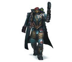 Tempestus Scion Officer w/ plasma-pistol.