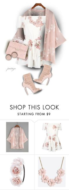 """""""Pink Player"""" by rockreborn ❤ liked on Polyvore featuring Charlotte Russe, LYDC, J.Crew and Linda Farrow"""