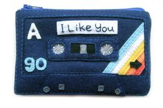 Mix Tape Pouch  I Like You Cassette Tape Zippered by BraveMoonman, $50.00 ALL OF MY WANTS. ALL OF THEM.