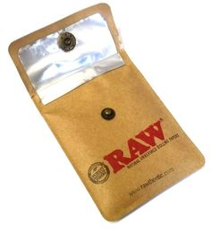 RAW POCKET ASHTRAY POUCH SMOKERS TRAVEL PORTABLE CIGARETTE ASH BUTT BUTTON CLOSE