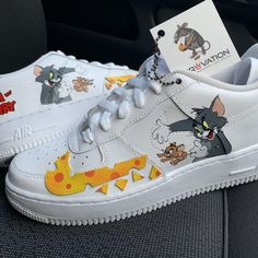 Custom Sneakers, Custom Shoes, Custom Af1, Women's History, Modern History, Ancient History, Air Force One Shoes, Tom Y Jerry, Nike Force 1