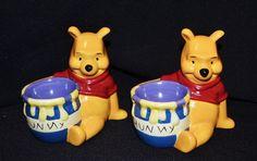 Winnie The Pooh Licensed Egg Cups x 2 Vintage