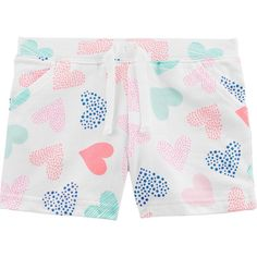 Pink Carters Baby Girls French Terry Pull On Bubble Shorts 18 Months