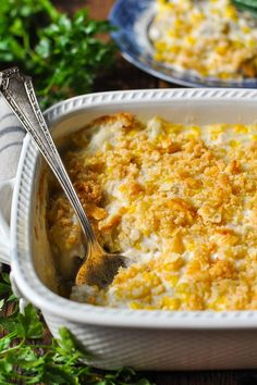 This Amish Chicken and Corn Casserole is made from scratch with simple ingredients. It's a cozy, comforting and easy dinner that's ready for the table in less than 45 minutes! Your family will love the creamy combination of tender chicken, sweet corn, and a buttery Ritz cracker crumb topping. Add a side salad or roasted veggies for a quick weeknight meal. You can't beat a simple chicken casserole on a chilly evening! It's total comfort food, and this easy version with chicken and corn in a…