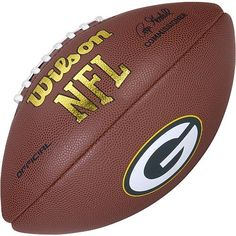 e9d6bf4df Wilson Green Bay Packers Logo Football - Wilson Green Bay Packers Logo  Football High grade composite NFL® replica game ballSigned by commissioner  Roger ...
