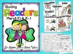 Guiding Readers: MARCH NO PREP ELA Unit for K-1No Prep, Print & Go Lesson Planning made easy. Reading, Phonics, Comprehension, Word Work & More! NOTE: This isn't a packet of worksheets. These are actual Lessons that guide you through the process of using Read Alouds to teach the standards for Reading and Phonics.This resource will give you 20 days of ENGAGING lessons in the areas of phonics phonemic awareness