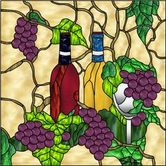 Wine and Grapes Decorative Window Film