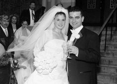 Buddy Valestra of Cake Boss and his bride Lisa on their 2001 wedding day. Star Wedding, Wedding Pics, Wedding Couples, Wedding Bells, Wedding Day, Wedding Reception, Wedding Gowns, Celebrity Wedding Photos, Celebrity Couples