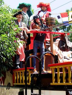 "Seafair Pirates .....these guys use to take captives outside the ""Back Door Pub!"" Right across from our third floor apartment."