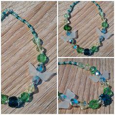#bracelet #beads #wing #green #handmade