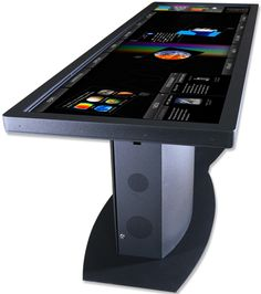 Similar to Micorosft's old Surface table, Ideum has launched the Pano Touch Table which is a table with a 100 inch touch screen on it that consists of two 55 inch active LED HD TVs with touch p. Gadgets Électroniques, High Tech Gadgets, Electronics Gadgets, Technology Gadgets, Cool Gadgets, Electronics Storage, Kitchen Gadgets, Future Gadgets, Phone Gadgets