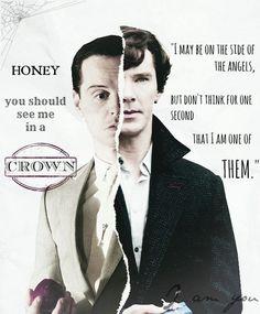 I think Sherlock and Moriarty have the best good guy-bad guy relationship. Sherlock Fandom, Sherlock John, Jim Moriarty, Sherlock Holmes Serie, Sherlock Holmes Dibujos, Sherlock Holmes Quotes, Molly Hooper Sherlock, Sherlock Cast, Sherlock Holmes Benedict Cumberbatch