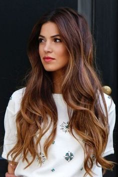 Balayage hair color ideas to give a new look. Top Balayage hairstyles for natural dark long black hair. Blonde and dark hair color ideas. Balayage hairstyle ideas for longer dark hair color. Top best hairstyles with dark black hair color ideas. Hair Color For Black Hair, Brown Hair Colors, Tiger Eye Hair Color, Reddish Brown Hair, Gold Brown Hair, Warm Brown Hair, Hair Colours, Purple Hair, Hair Styles 2016