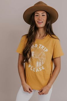 fe2a89c588 Road Trip Graphic Tee! This light weight, soft cotton road trip tee is as