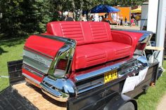 Buick'58 Century, rear end turned to a couch.