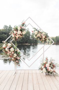 Floral geometric archway wedding decor inspiration photographed by Michaila Chodur Photography. Wedding Backdrop Design, Wedding Stage Decorations, Ceremony Backdrop, Wedding Ceremony, Decor Wedding, Wedding Backdrops, Geometric Decor, Geometric Wedding, Floral Wedding