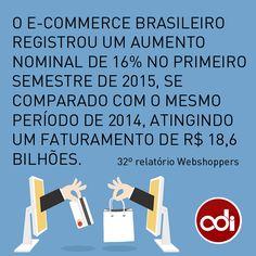 Crescimento do e-commerce brasileiro no primeiro semestre de 2015.