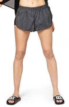 IVY PARK® Reflective Linear Print Mesh Inset Running Shorts available at #Nordstrom