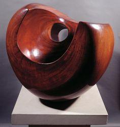 Barbara-Hepworth-Configuration-Phira-1955. Barbara Hepworth, Bronze Sculpture, Wood Sculpture, Metal Sculptures, Contemporary Sculpture, Wooden Art, Oeuvre D'art, Glass Art, Andy Goldsworthy