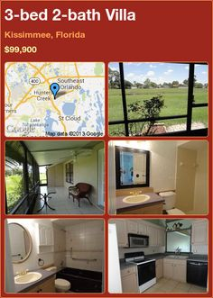 3-bed 2-bath Villa in Kissimmee, Florida ►$99,900 #PropertyForSale #RealEstate #Florida http://florida-magic.com/properties/6230-villa-for-sale-in-kissimmee-florida-with-3-bedroom-2-bathroom