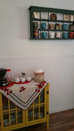 My lovely coffee corner. The table cloth was handcrafted by my mom😍😍😍. Good way to start your day! 😊