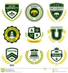 university-college-crests-set-school-emblems-32184899.jpg (1300×1390)