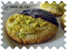 Biscuits choco-pistache