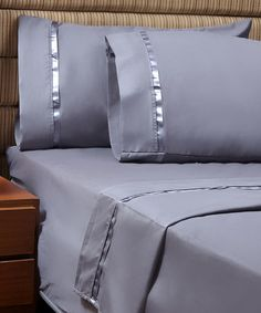 Look what I found on #zulily! Silver 1,000-Thread Count Sateen Band Deep-Pocket Sheet Set #zulilyfinds