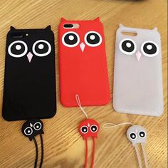 Lanyard + 3D Cartoon Soft Silicone Case for Xiaomi Redmi Note 3/4/4X Cute Cartoon OWL Rubber Cover for Redmi 4A Cute Phone Cases #Affiliate
