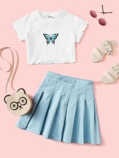 Really Cute Outfits, Cute Lazy Outfits, Crop Top Outfits, Girly Outfits, Pretty Outfits, Stylish Outfits, Girls Fashion Clothes, Tween Fashion, Teen Fashion Outfits