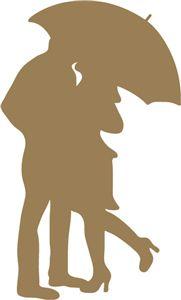 View Design: couple under umbrella- silhouette