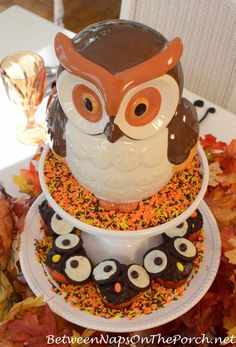 Owl Cupcakes For Hal