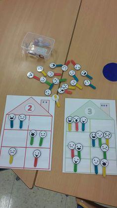 Number Sense Kindergarten, Teaching Kindergarten, Kindergarten Worksheets, Teaching Kids, 4 Year Old Activities, Preschool Activities, Math Stations, Math Centers, Life Skills Class