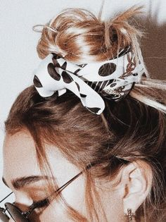 handkerchief buns + round sunnies + cross earrings | urban updo's