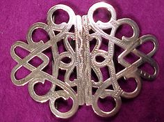 Antique Art Nouveau STERLING Silver Belt by FionaKennyAntiques