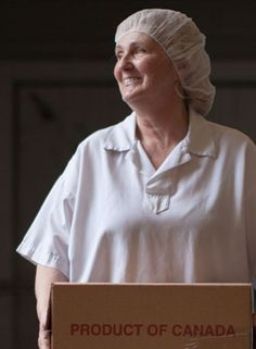Alice - a 47 year employee at Bright Cheese & Butter in Bright, ON. We get our cheddar cheese from Bright - the oldest active cheddar producer in Ontario!  To see her story just click on the picture.