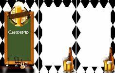 Olá, Meninas!! Hoje em nossa postagem temos um kit para festas de adulto, no tema boteco. CACHEPOT CARDAPIO PLACA DE ...