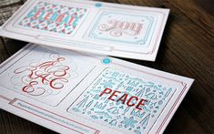 Letterpress Holiday Card with punch out coasters by Miles Design. Printed at Faulkenberg Printing Company.